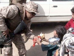 most important thing a soldier will ever do this picture is from cwo3 edward jimenezs unit in afghanistan 2004 you folks sent the toys this marine