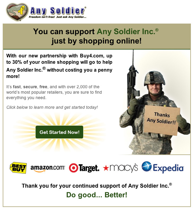 any soldier inc has partnered with charitablehotelsorg the first non profit online travel agency ota in the country