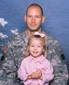 Staff Sgt. Gavin Reinke and his daughter, Kayleigh.